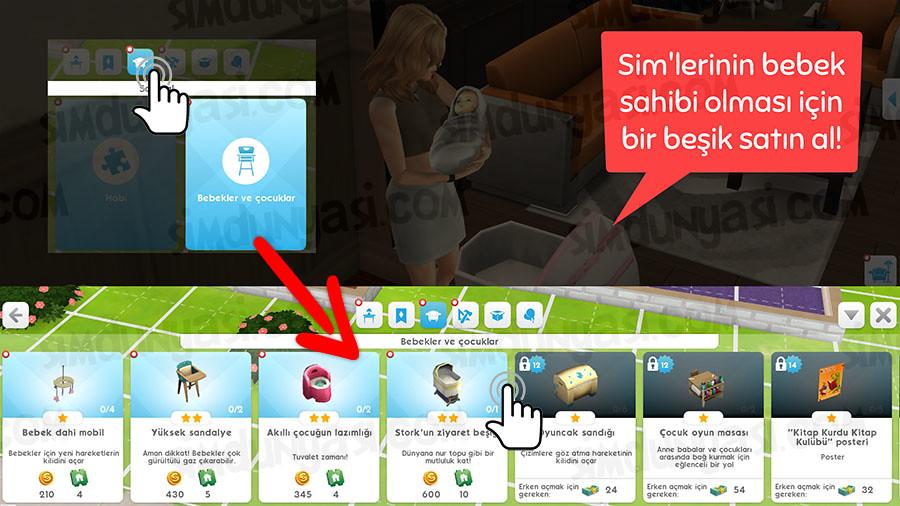 The Sims Mobile Mobil Wedding Having a Baby Düğün Kemeri Evlilik Teklifi Bebek Yapmak Çocuk Sahibi Olma Evlatlık