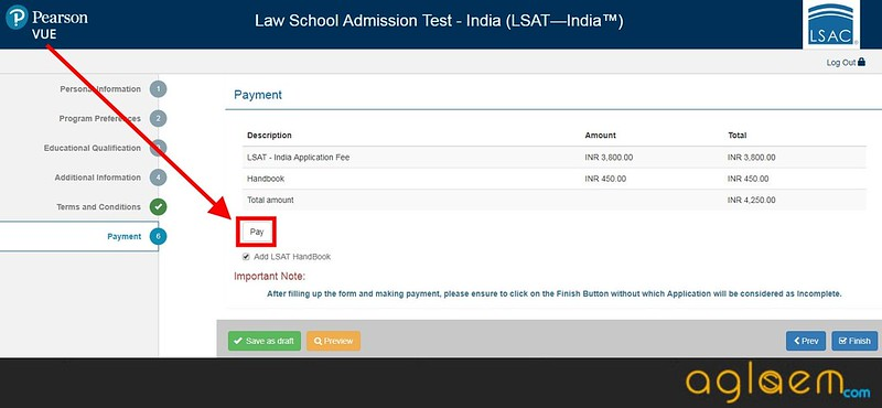 LSAT India Application Form 2018