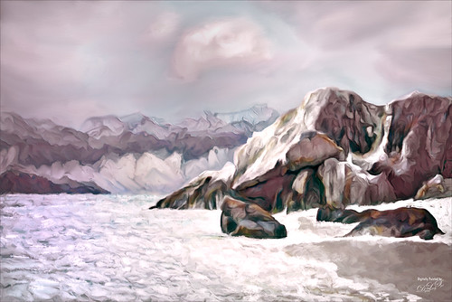 Image of a digitally painted landscape
