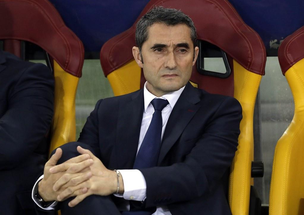 巴薩教頭Ernesto Valverde。(達志影像)