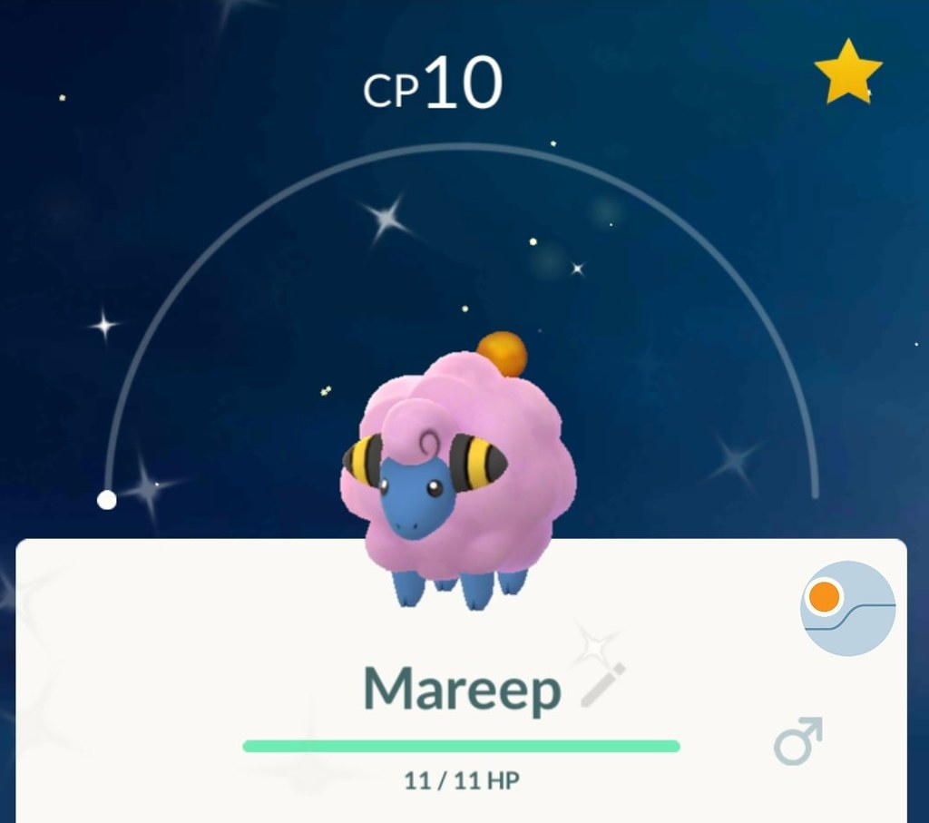 Shiny Mareep Cp10 On The Pokemon Go Community Day Alpha Flickr