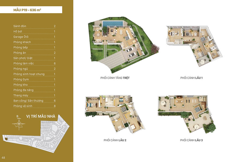 Mẫu thiết kế P19 biệt thự đơn lập Villa Park