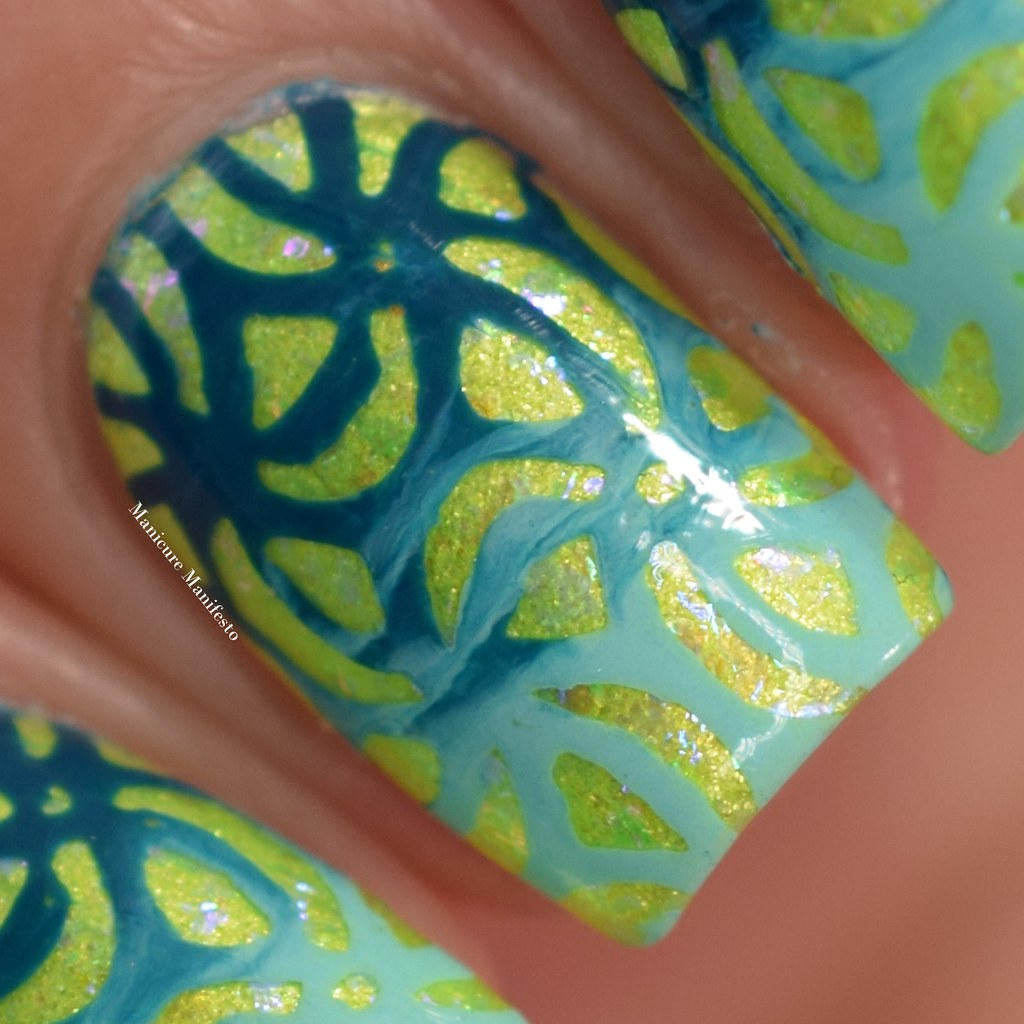Emily De Molly Tiffany Blue Stamping Polish