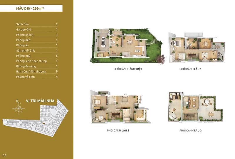 Mẫu thiết kế D10 biệt thự đơn lập Villa Park