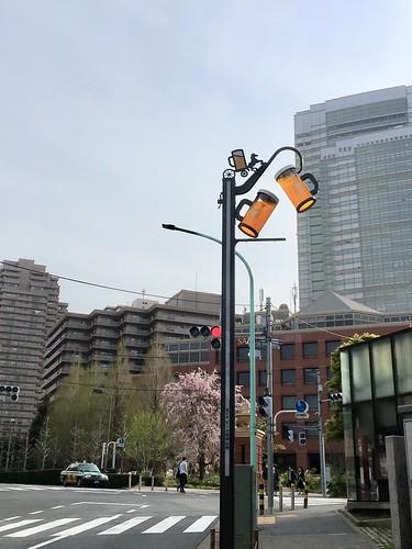 ビール坂の新しい街灯
