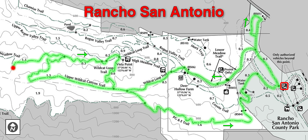Rancho San Antonio Map Hike Map   Rancho San Antonio | The official hike was called… | Flickr Rancho San Antonio Map