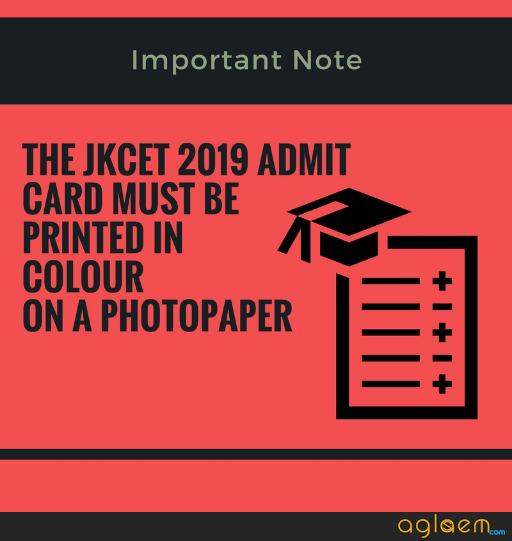 JKCET 2019 Admit Card