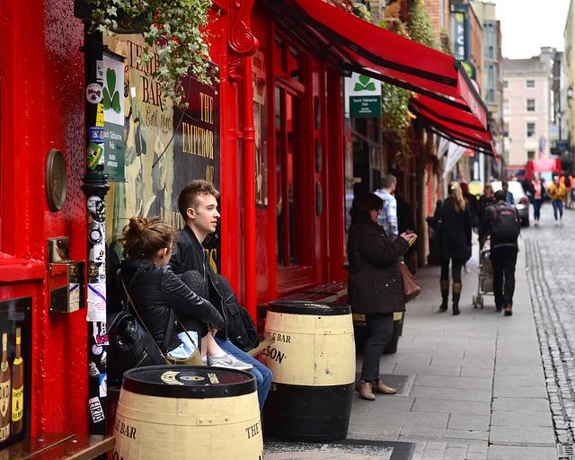 Uno de los laterales del famoso pun Temple Bar