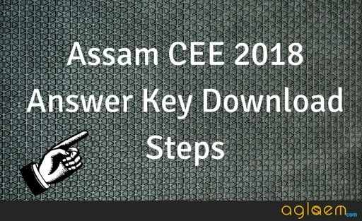 Assam CEE 2018 Answer Key