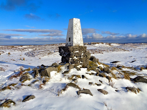 'The Edge' trig pillar on Kinder Scout