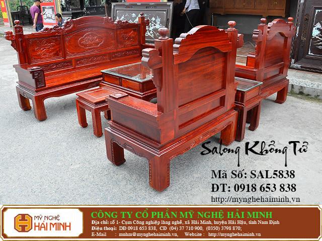 SAL5838k Salong Khong Minh do go my nghe hai minh