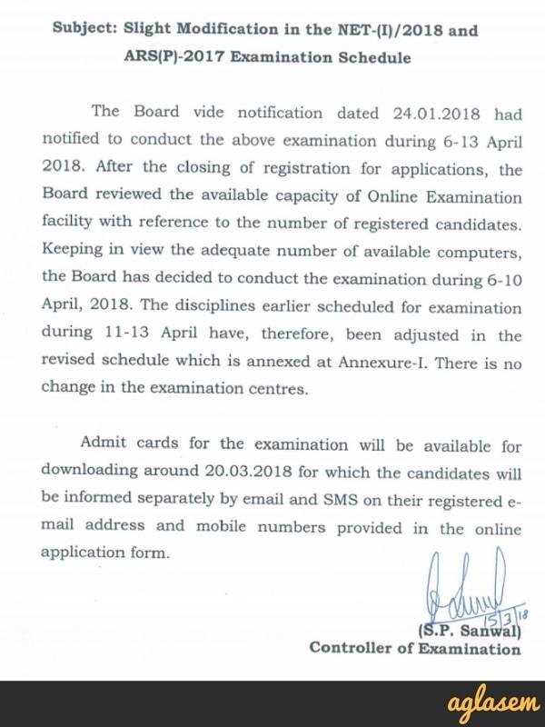 ASRB NET 2018 Admit Card Download at cbexams.com; Exam Dates Revised