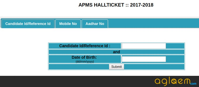 AP Model School Hall Tickets 2018 Released