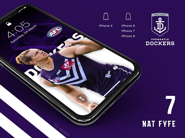 Nat Fyfe (Fremantle Dockers) iPhone Wallpaper