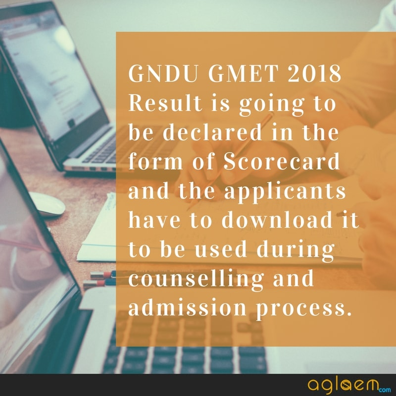 GNDU GMET 2018 Result for MBA Admission to be Released by Guru Nanak Dev University  %Post Title, %Post Category, AglaSem