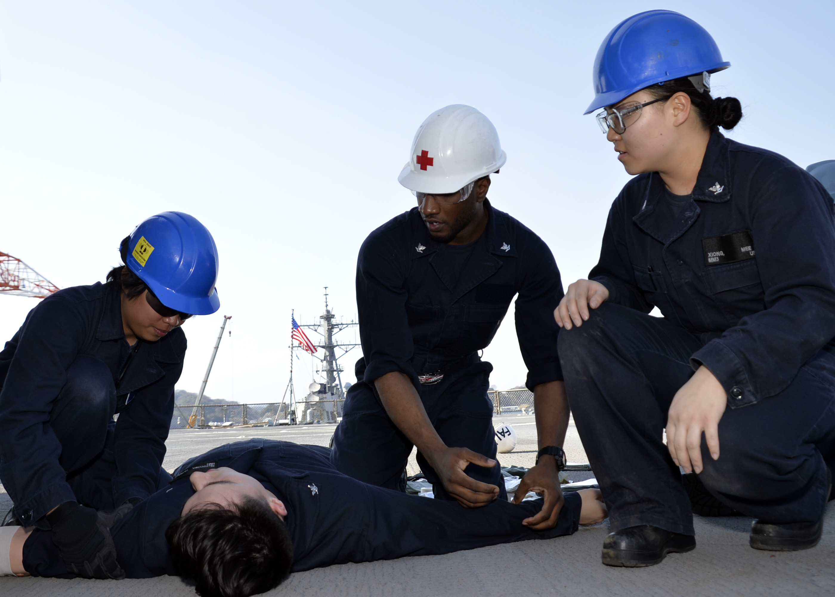YOKOSUKA (NNS) – The crew of U.S. 7th Fleet flagship USS Blue Ridge (LCC 19) successfully completed Fleet Support Operations-Medical (FSO-M) 1.1 and 1.2 assessments conducted Feb 20-March 12.