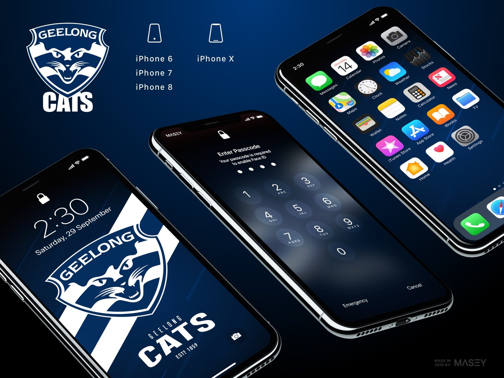 Geelong Cats iPhone Wallpaper