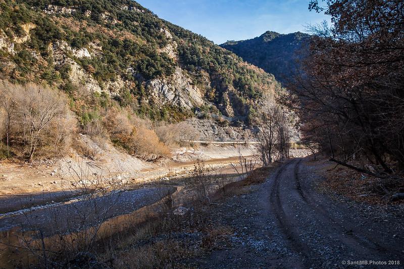 El río Llobregat en la cola del pantano de La Baells