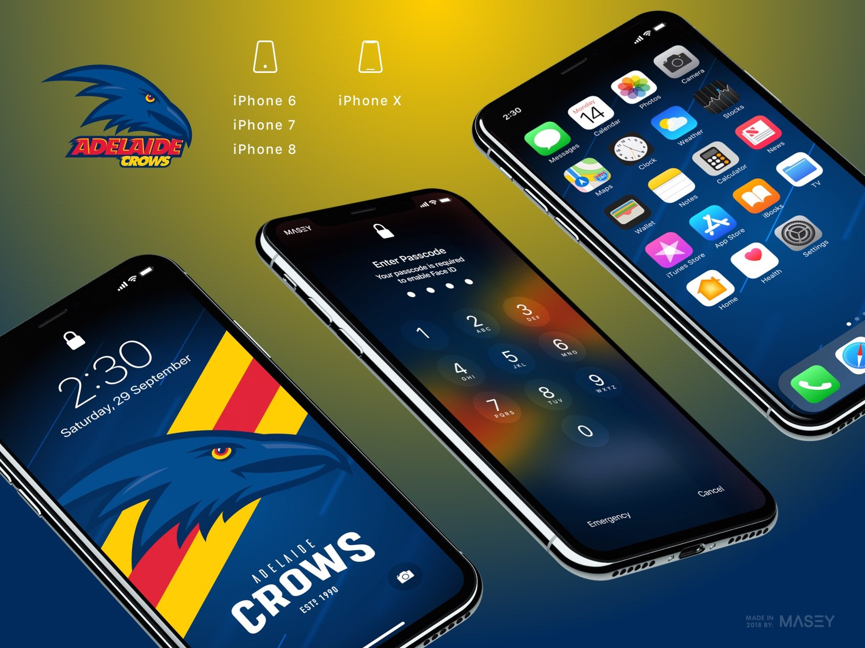 Adelaide Crows iPhone Wallpaper