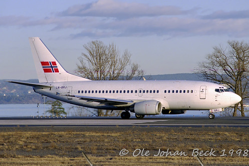 Braathens SAFE B737-505 LN-BRJ at ENFB/FBU 27-03-1998 | by Ole Johan Beck