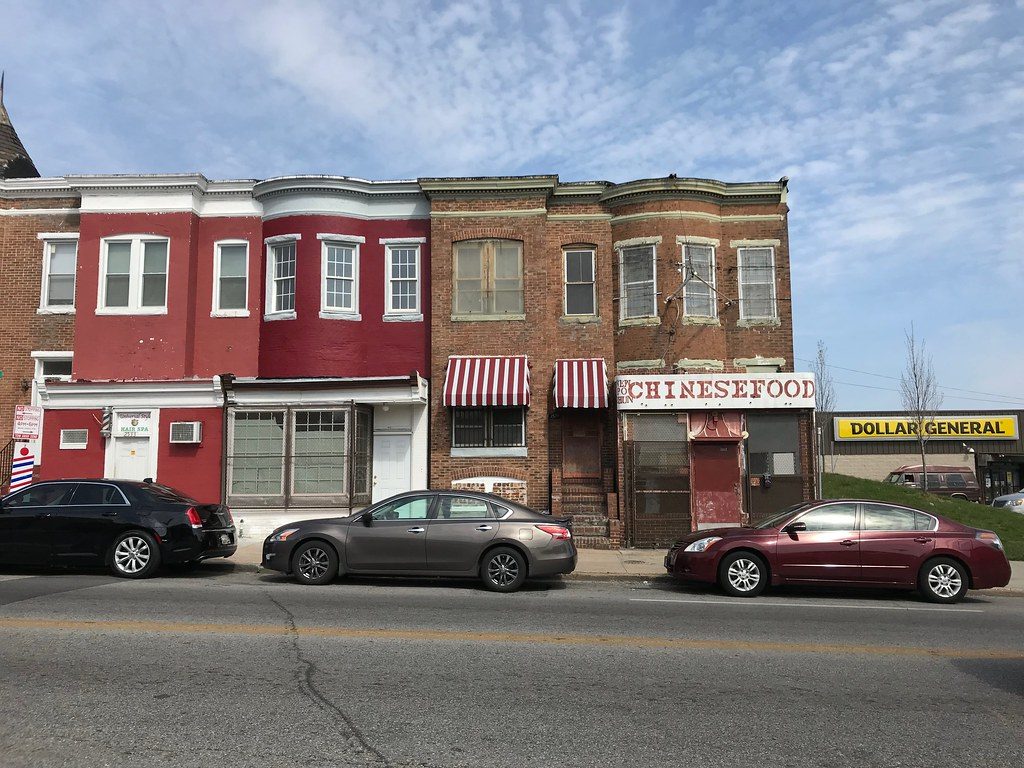 ... Baltimore Rowhouses (Chinese food and barber shop), 2527-2533  Greenmount Avenue, Baltimore