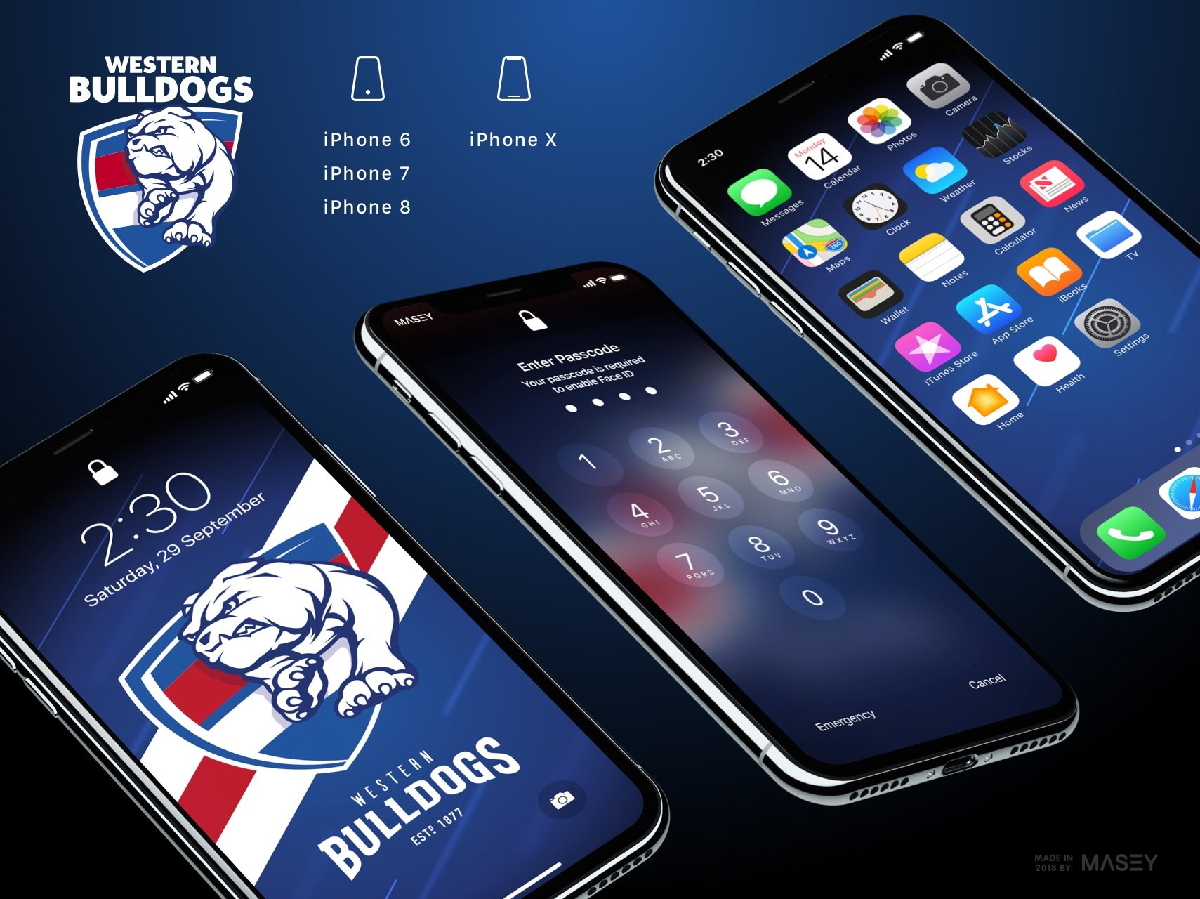 Western Bulldogs iPhone Wallpaper