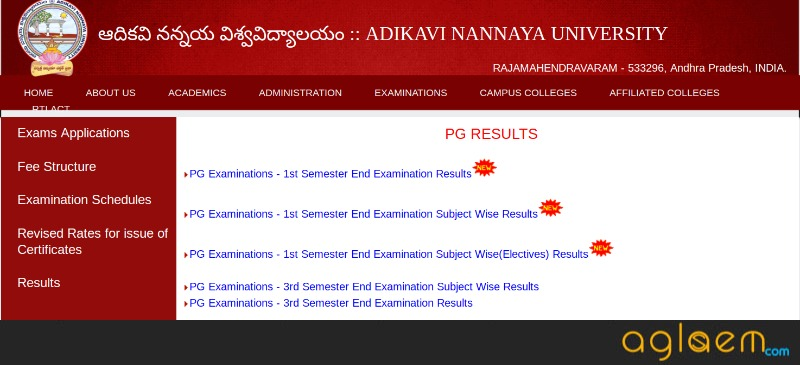 AKNU PG Results for 1st and 3rd Semester Announced | AglaSem News