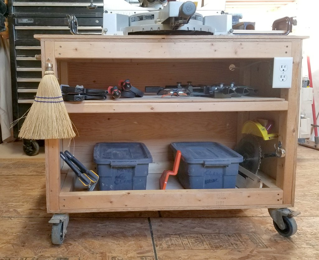 mobile miter saw stand cart