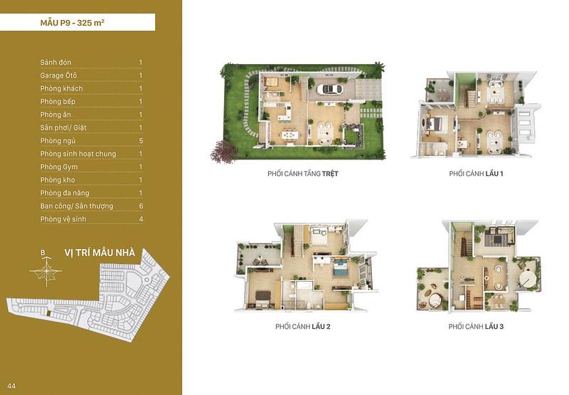 Mẫu thiết kế P9 biệt thự đơn lập Villa Park