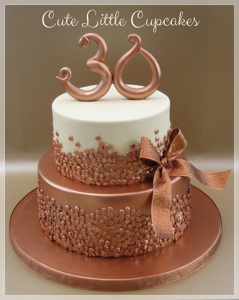 Rose Gold 30th Birthday Cake Heidi Stone Flickr