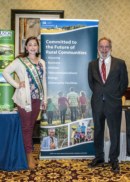 George Krivda, State Director for Southern New England, and Harley-Anne Rose, Miss United States Agriculture for Massachusetts