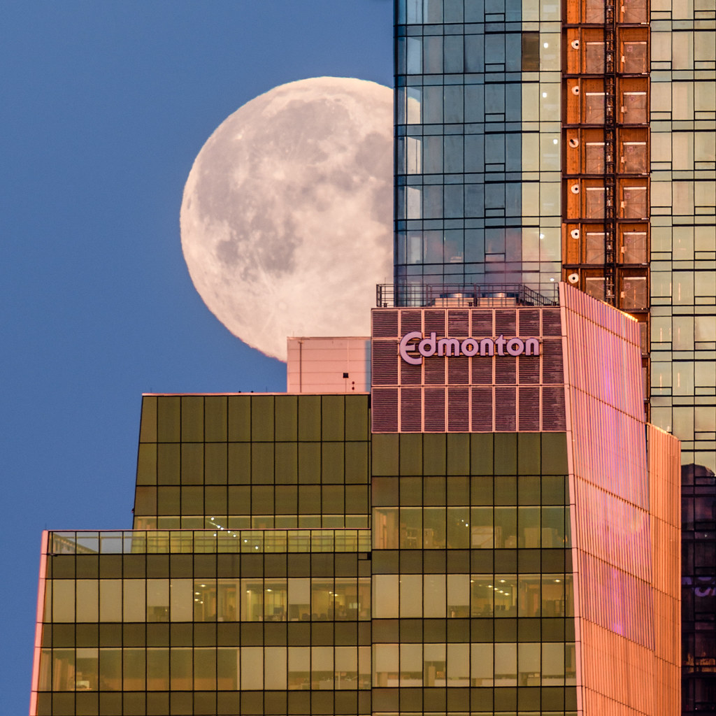 hide and seek full moon diving behind edmonton tower and. Black Bedroom Furniture Sets. Home Design Ideas