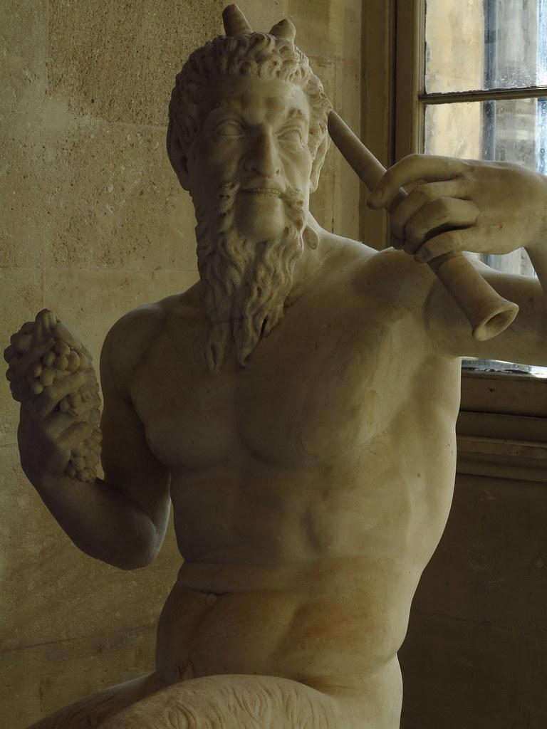Faune A La Flute Musee Du Louvre Antiquites Grecques Flickr