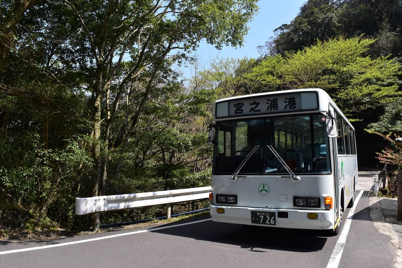 白谷雲水峡~宮之浦港行きバス