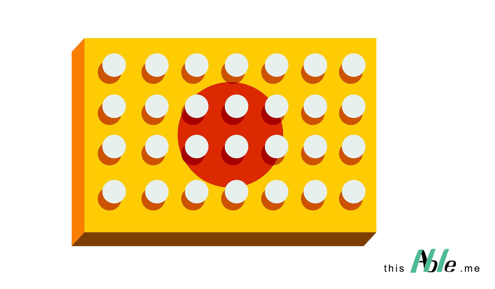 รูปแผ่นเบรลล์บล็อกลายธงชาติญุี่ปุ่น