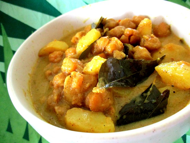 My chick pea & potatoes vegetarian curry