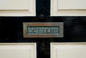 "Mail Slot With ""Letters"" Front Plate"