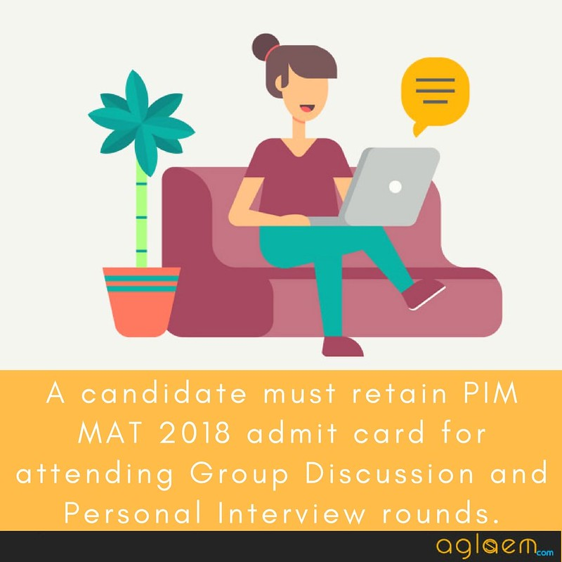 PIM MAT 2018 Admit Card - Download Hall Ticket for 6 May 2018 Exam  %Post Title, %Post Category, AglaSem
