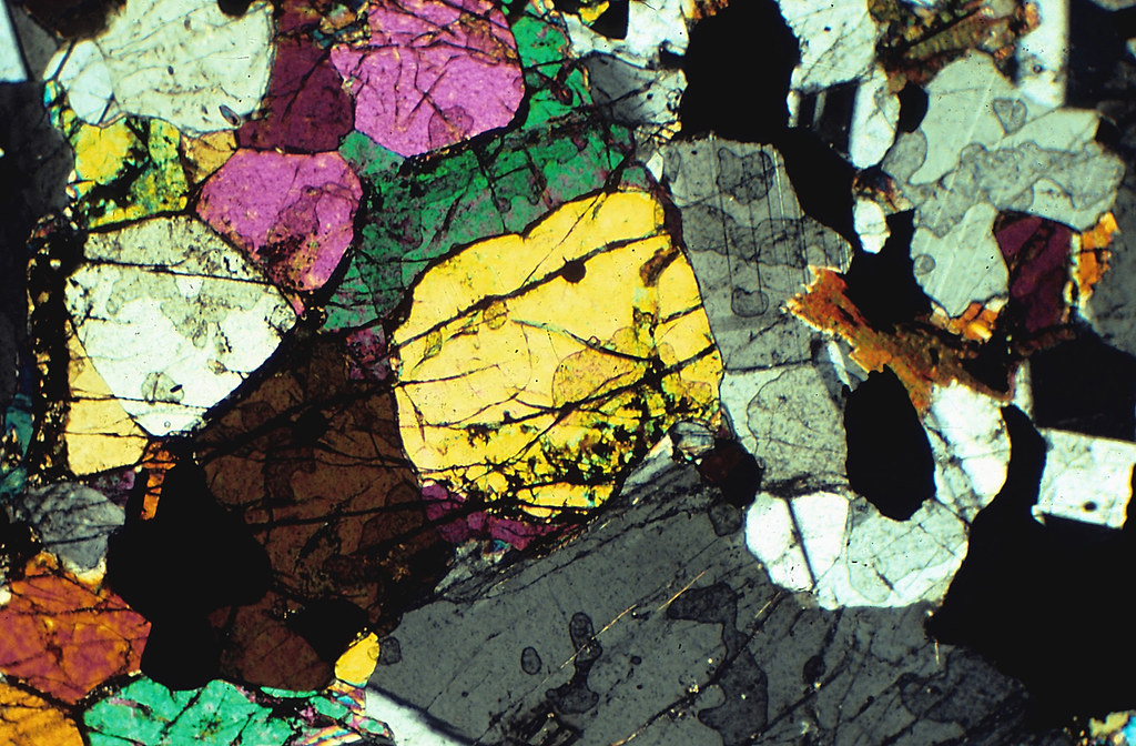 Bronzitite Bronzitite A Thin Section Of A Rock Made Of