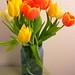 April tulip bouquet
