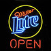 neon sign - Miller Lite OPEN