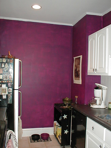 Purple Color Kitchen Designs