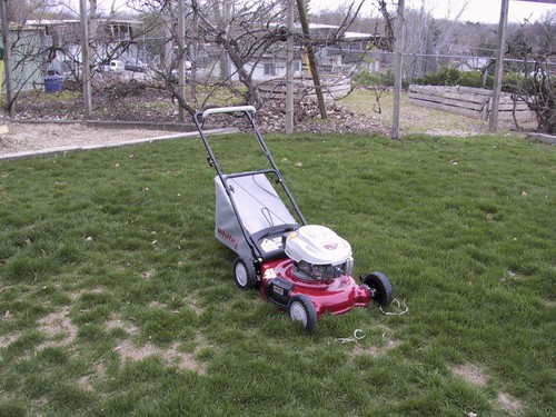 lill red lawn mower