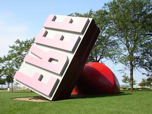 Cleveland's 'FREE' Stamp -- a public sculpture.