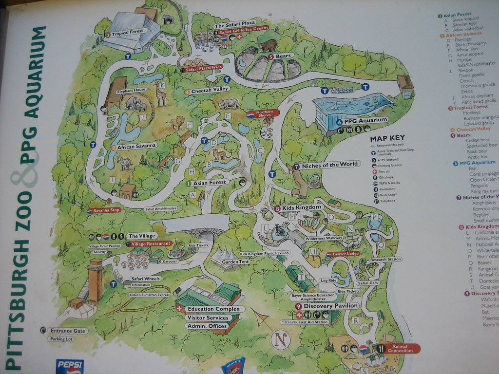 Pittsburgh Zoo Map Pittsburgh zoo map | trappedinabay | Flickr Pittsburgh Zoo Map