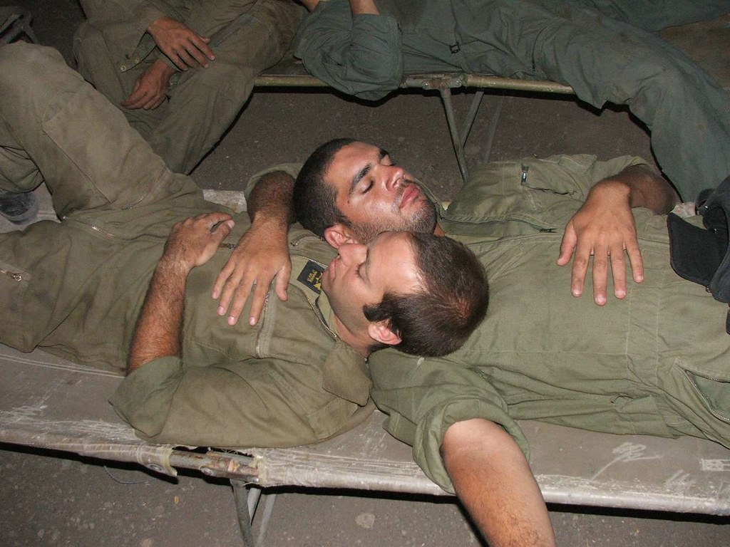 Gay male soldiers foot worship and nude