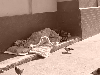 Homeless sleeping on the sidewalk | by Franco Folini