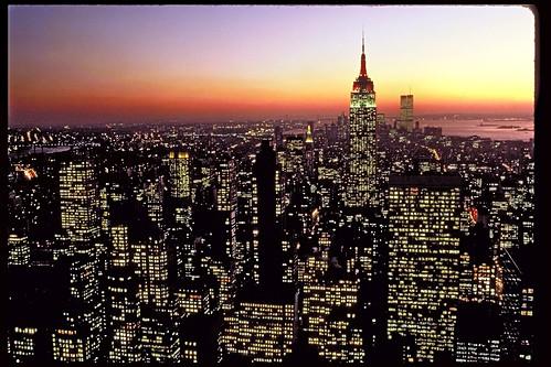 New York Skyline with World Trade Towers
