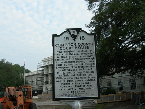 Colleton County Courthouse Marker | by jimmywayne