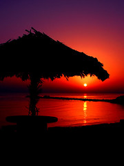Hut Sunrise - Hello from Kish Island by Hamed Saber